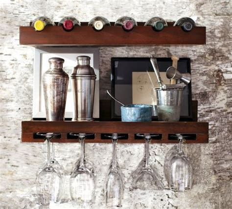 pottery barn holman shelf holman entertaining shelves pottery barn wineglass and