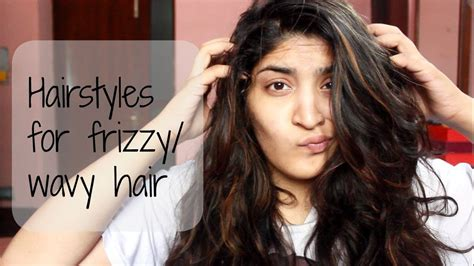 heatless  easy hairstyles  frizzy  wavy hair youtube