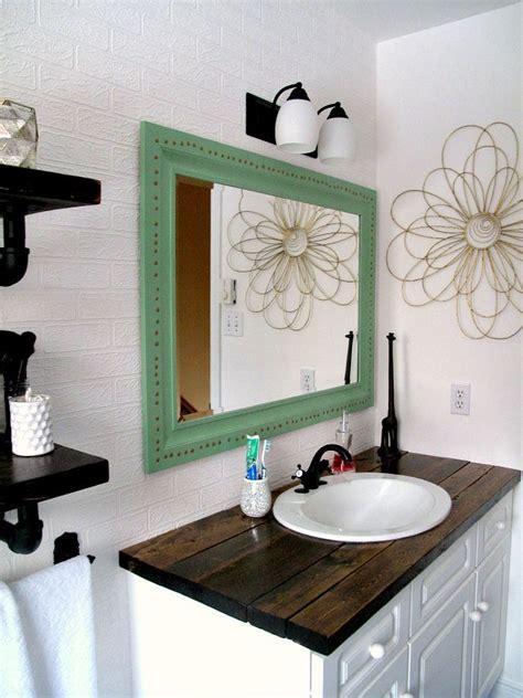 diy bathroom countertop ideas rustic wood vanity diy wood counter top bathroom makeover budget farmhouse rustic bathrooms