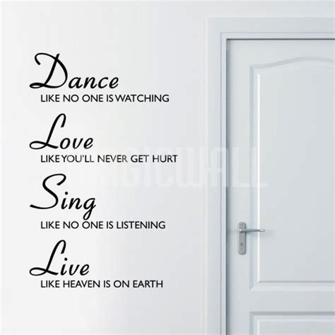 Art print of dance love sing live. Dance - Love- Sing - Live - Quotes Decals Stickers Canada