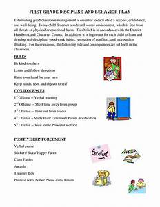 Consequence Chart For Classroom First Grade Rules And Consequences First Grade