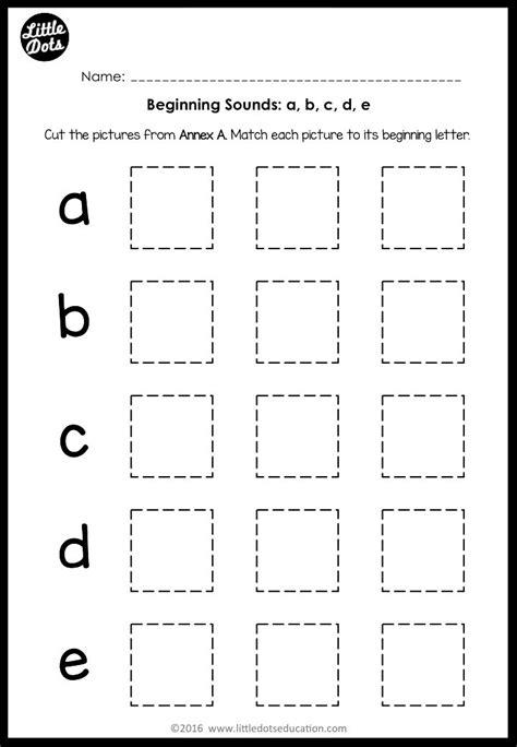 beginning sounds worksheets  activities