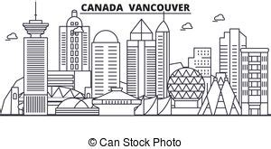 vancouver bc skyline paint splatter illustration vancouver columbia canada city skyline