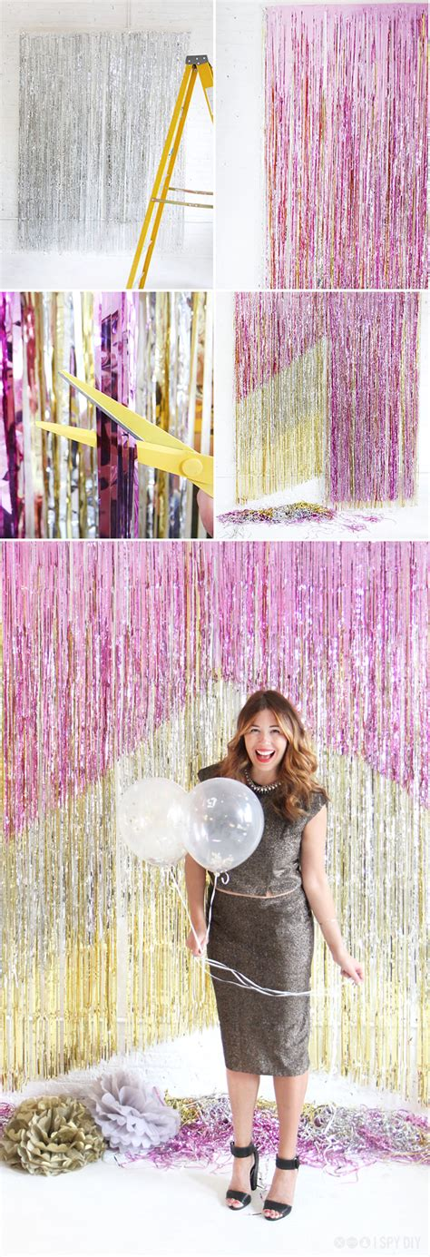 diy photo backdrops   nye party home trends magazine