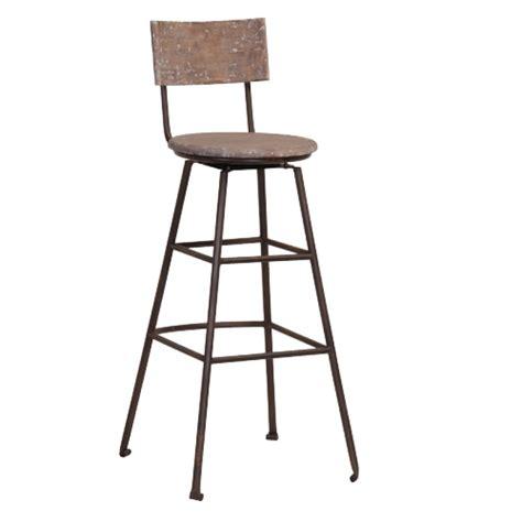 chaise bois et metal chaise de bar en bois recyclé et métal