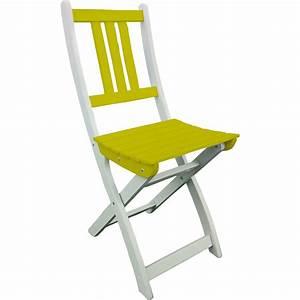 Chaise Jardin Bois : chaise de jardin en bois burano vert anis doux leroy merlin ~ Teatrodelosmanantiales.com Idées de Décoration