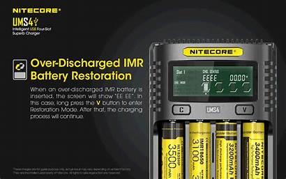 Nitecore Ums4 Usb Chargeur Battery Ni Charging
