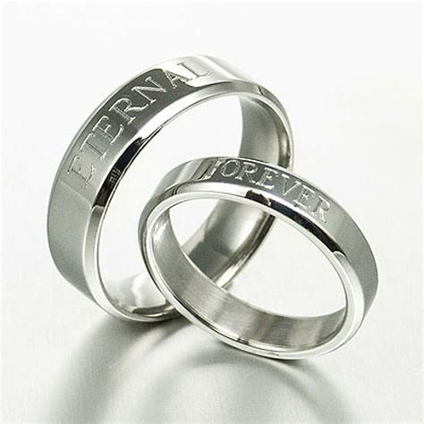 personalize his and her matching anniversary wedding ring
