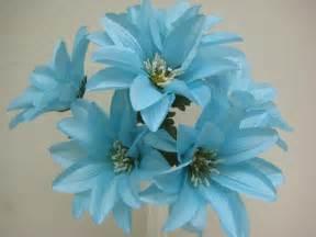 Blue Silk Flower Bushes