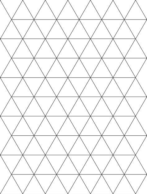 pattern block triangle paper