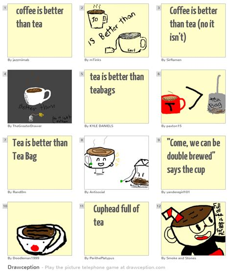 › is tea better for you than coffee. coffee is better than tea - Drawception