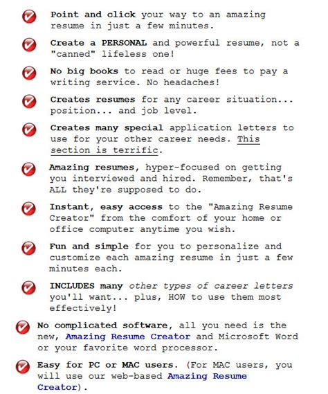 Amazing Resume Creator by Cover Letter And Resume Creator Writing Tips Guides And