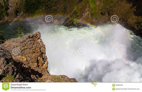 Rainbow The Mist Stock Photo Image