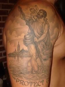St. Christopher | Tattoos | Pinterest | Arm tattoo, Saints ...