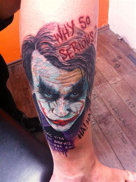 nice joker tattoos  leg