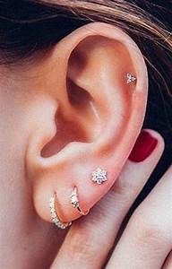 Steal These 30 Ear Piercing Ideas | Cartilage piercing ...