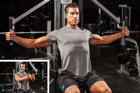 pec deck machine workout the workout for a chest