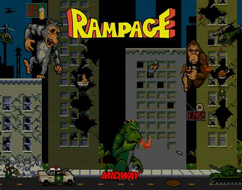 Rampage Video Game 1986 Horrorpedia