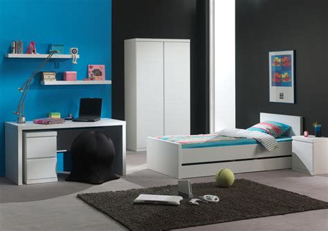 chambres d h es en chambre enfant complète contemporaine laquée blanche elara