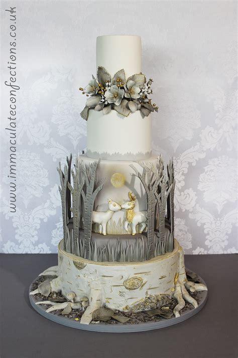 winter woodland wedding cake cakes  natalie porter
