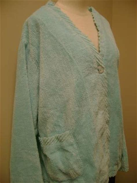 chenille bed jacket stan herman chenille bed jacket with bias binding1x ebay