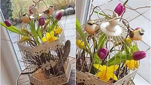 Frühjahrsdeko Selber Machen : fr hling im vogelk fig deko im april fr hjahrsdeko tulpen narzissen vogelk fig youtube ~ Frokenaadalensverden.com Haus und Dekorationen