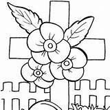 Memorial Coloring Pages Clipart Printable Cards Clip sketch template
