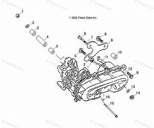 Polaris Atv 2004 Oem Parts Diagram For Engine Bracket   Cb