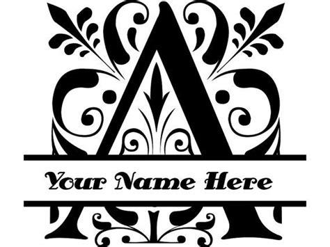 regal split letter  fancy letter monogram monogram initial letter yeti cup monogram