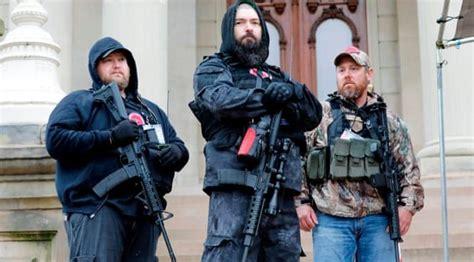 armed  wing protests  harbinger  fascism