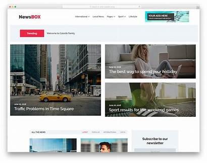 Responsive Website Template Templates Colorlib Html5 Newsbox
