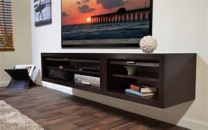 Floating Media Console: A Way to Display Your TV with