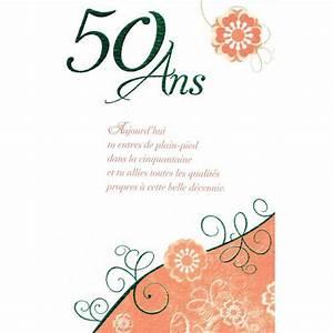 Faire Part Anniversaire 50 Ans : modele invitation anniversaire 50 ans invitation ~ Edinachiropracticcenter.com Idées de Décoration