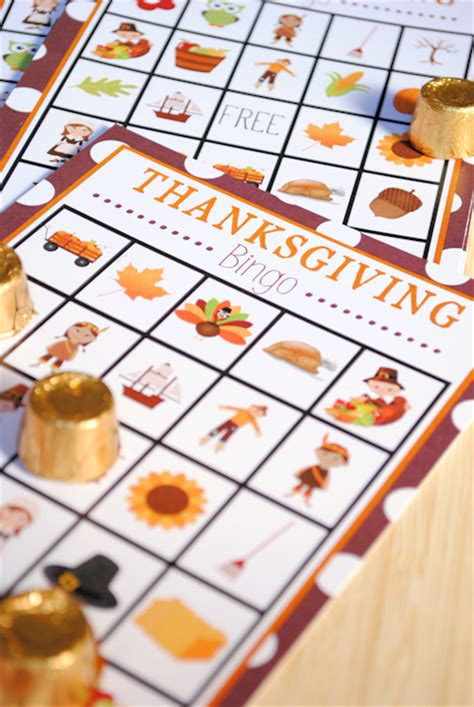 printable thanksgiving bingo game crazy  projects