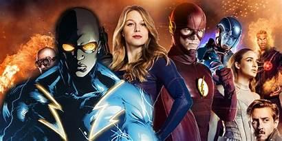 Lightning Arrowverse Cw Tv Crossover Screen Lineup