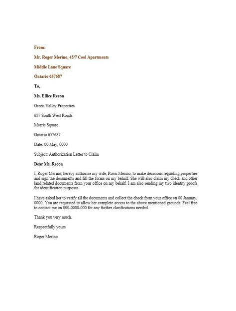 authorization letter  prayer letter sample house