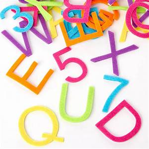 assorted felt letter and number stickers scrapbooking With craft letter stickers