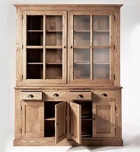 Vaisselier En Pin : buffet vaisselier bois cir miel 6 portes 4 tiroirs made in meubles ~ Teatrodelosmanantiales.com Idées de Décoration