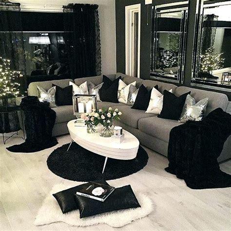black white grey living room design