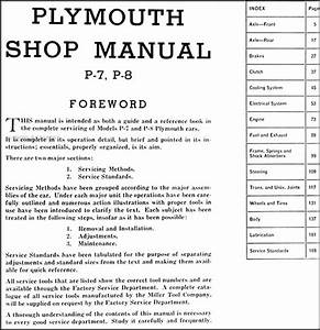 1939 Plymouth Repair Shop Manual Original