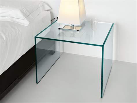 clear glass bedside table glass bedside table crowdbuild for