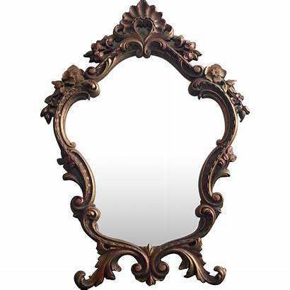 Mirror Ornate Easel Standing Wood Pressed Rococo