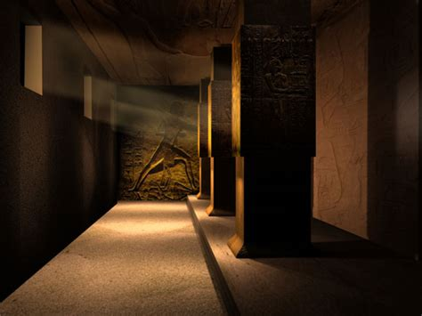 egyptian tomb corridor ancient architecture ds