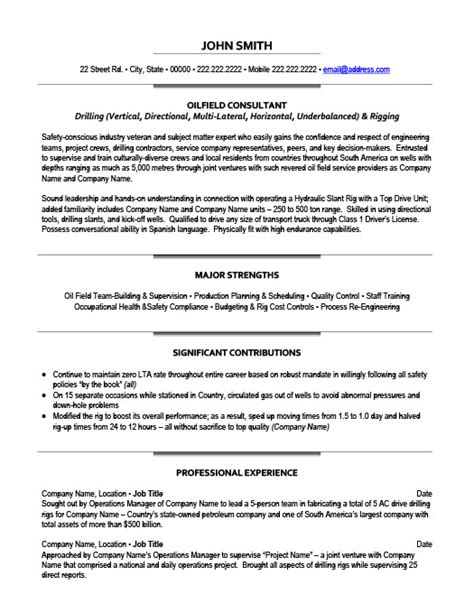 Oilfield Pumper Resume Exles by Company Resume Amitdhull Co