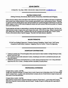 Oilfield consultant resume template premium resume for Cover letter for oil and gas internship