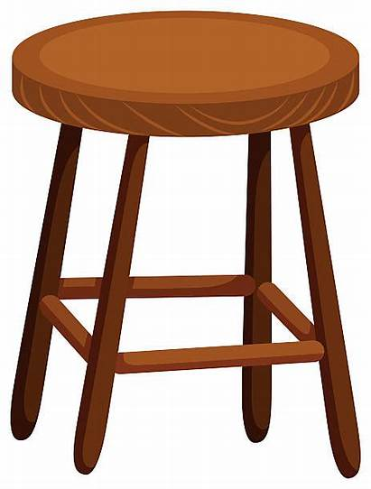Stool Wooden Chair Illustrations Clip Vector Background