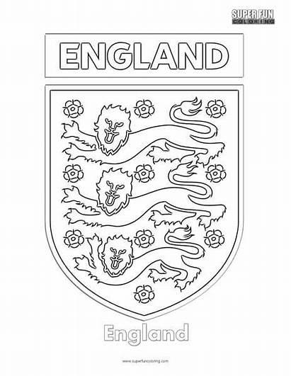 Coloring Football England Sports