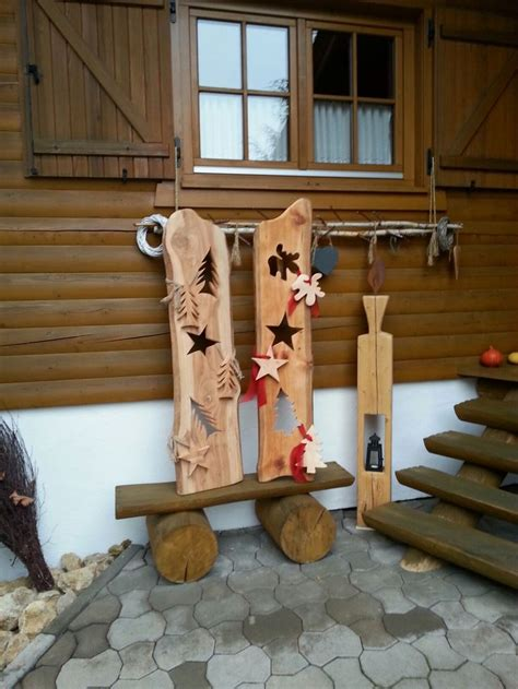 Holz Deko Draußen advent dekoration drau 223 en weihnachten
