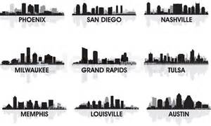 grand rapids photographers american cities skyline set vector colourbox