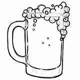 Beer Coloring Glass Drawing Pages Bottle Mug Print Soda Clip Clipart Printable Getcolorings Clipartmag Bee sketch template